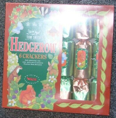 Wade Whimsies Tom Smith Hedgerow 6 Boxed Christmas Crackers. UK ONLY. Free Post • 16.01£