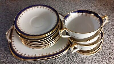 Aynsley Blue And Gold Tea Set • 30£