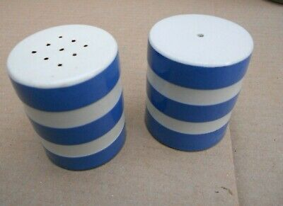 T G Green Cornishware Salt & Pepper Pots • 28£