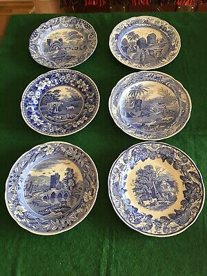 6 X BLUE ROOM COLLECTION PLATES (DIFFERENT PATTERNS) • 42.50£