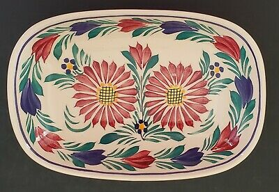 HB Henriot Quimper Hand Painted Oval Dish France F.162 Multicolor Floral 7  • 42.17£