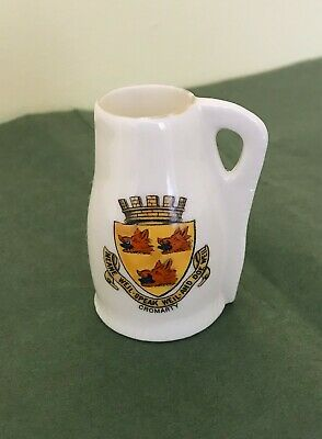 Original Collectable W.H Goss Crested China Lincoln Jack, Cromarty, Scotland • 12£