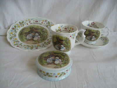 RARE - Royal Doulton, Brambly Hedge -  The Engagement  5 Pieces Collection • 287.51£
