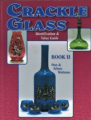Vintage Crackle Glass Identification - Types Makers Dates / Scarce Book + Values • 19.25£