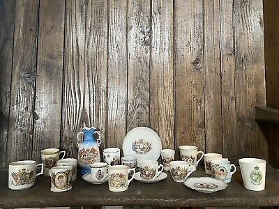 Collection Of 18 China Items Celebrating Edward VII Reign • 150£