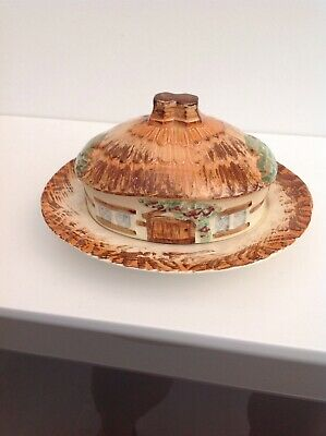Cottageware Lidded Oval Butter/Cheese Dish • 5£