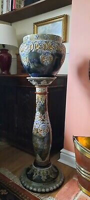 Royal Doulton Jardiniere Planter Vase & Matching Stand • 100£