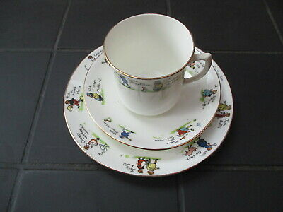 Vintage Children's Nursery Rhyme Plate, Cup And Saucer Set • 20£