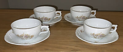 Vintage 4 Cups & Saucers Rosenthal  Classic Rose Collection Catherine/Monbijou • 24£