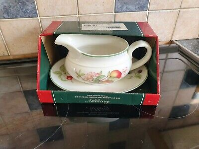M&S Marks And Spencer St Michael Ashberry Gravy Boat And Saucer • 5£