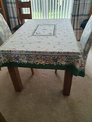 M&S MARKS & SPENCER ASHBERRY VINTAGE RECTANGULAR TABLE CLOTH 50  X 33  1980's • 5£