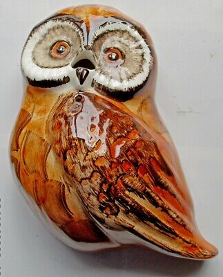 Philip Laureston Babbacombe Pottery Wall-mount Owl String & Scissor Holder    • 7£