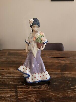 Lladro Figurines With Flowers 5490 • 60£