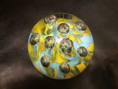 Glass Paper Weight Large Globe With Vibrant And Pale Blue Glass  • 15£