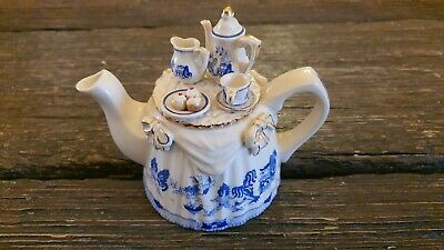 Vintage Paul Cardew Made In England Blue Willow Tea Table Teapot • 65£