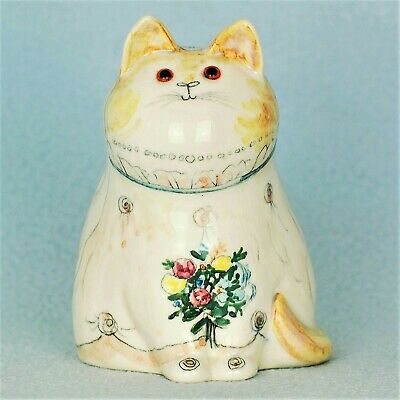 Cinque Ports Pottery The Monastery Rye Gorgeous Joan De Bethel Bride Cat • 125£