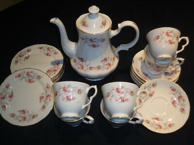 Vintage Gainsborough Pink Floral Bone China Teaset With Teapot, 6 Settings Plus  • 32£