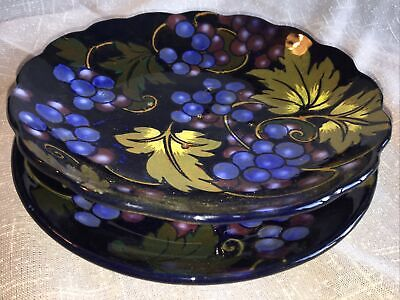 Royal Stanley Ware Jacobean Tri Footed Bowl Pierced Base With Under Plate • 45£