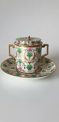 Rare Antique Derby English Porcelain Chocolate Cup Cover And Stand • 260£