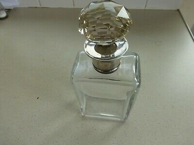 Antique Glass Decanter With Silver Neck • 35£
