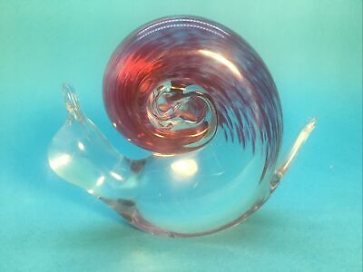 Wedgwood Art Glass Snail In Pink • 25£