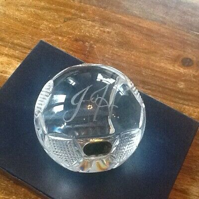 Rare Tyrone  Crystal Football Paperweight  3  • 22£