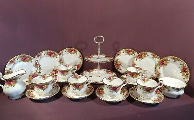 Royal Albert Old Country Roses Pattern, Tea Set 21 Pieces • 110£