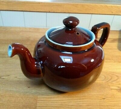 Vintage DENBY HOMESTEAD TEAPOT - Brown And Blue - 2.25 Pint  • 15£