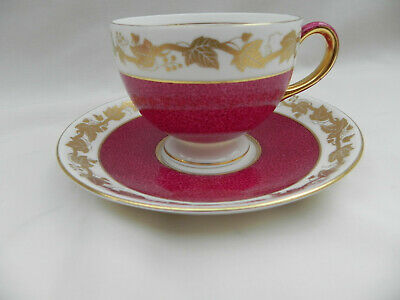 Wedgwood Whitehall Ruby W3994 TEA CUP & SAUCER. • 24.99£