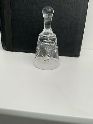 "Glass Pattern Bell With Ball Ringer 4"" Tall • 2.99£"