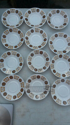 Set Of 12 Royal Vale Bone China Saucers • 8.95£