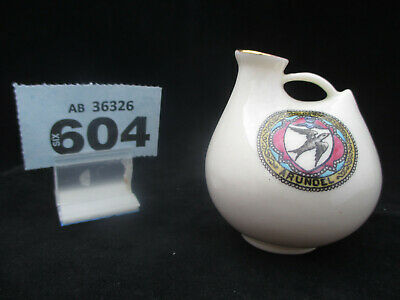 Model Of WH GOSS Crested China CHESTER Roman Vase With ARUNDELCrest (604) • 5£