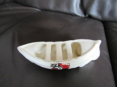 Crested China Unmarked Lifeboat 125mm • 10£