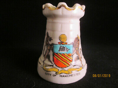 Model Of  A ROOK Chess Piece Crested China Manchester Crest (503) • 6£