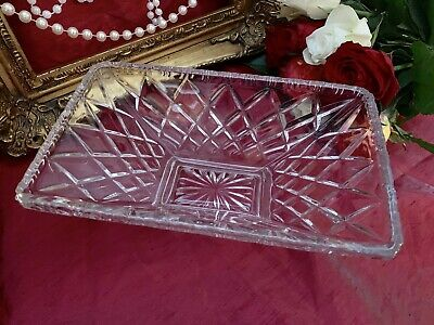Sowerby Art Deco Rectangular Clear Pressed Glass Bowl - Pattern L2487 • 15£