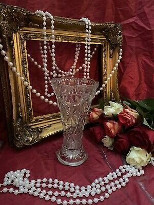 Collectable Pressed Glass Three Panel Vase, Made In Germany • 5£