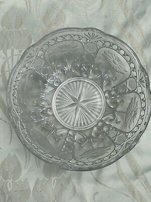 Brockwitz Asters Clear Pressed Glass Bowl • 20£
