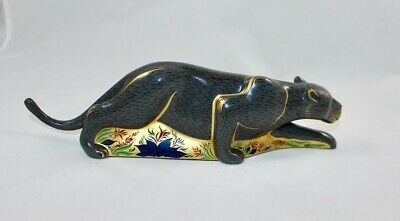 Royal Crown Derby Paperweight The Black Panther  • 450£