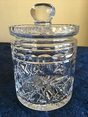 Vintage Cut Glass Jar Storage Pot Container  Ideal For Sweets Etc • 20£