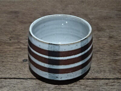 Cylindrical Pottery Pot With Banded Decoration. Briglin England • 25£