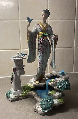 "The Franklin Mint  ""MARIKO"" Princess Of The Wisteria Blossoms Figurine 12in Tall • 110£"