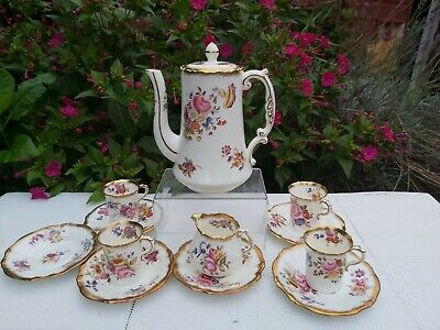 Hammersley Dresden Sprays Pattern 12668 Coffee Set • 200£