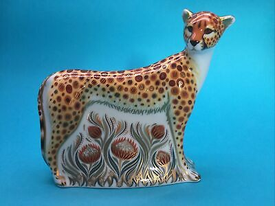 Royal Crown Derby Cheetah Paperweight Gold Stopper • 110£