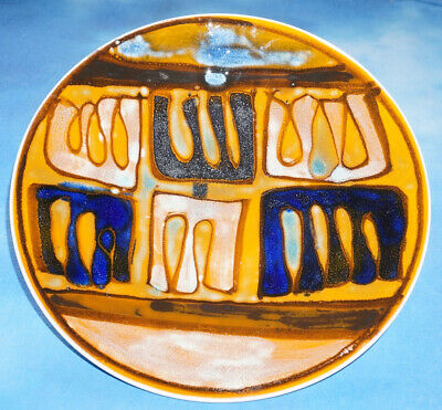 Poole Pottery DELPHIS Shape 4 Plate Dish Charger - Blue Mark - 1966 • 120£