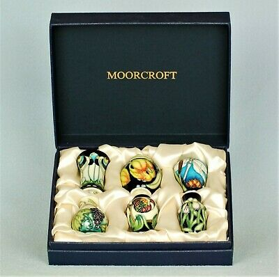 MOORCROFT SUPERB AND VERY RARE BOXED SET OF SIX MINIATURES C2006 • 600£