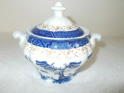 Booths Real Old Willow A8025 Sugar Bowl In Very Good Used Condition • 9.99£