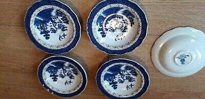 5 X Booths Real Old Willow 13cms Saucers. A8025. Very Good Condition  • 15£