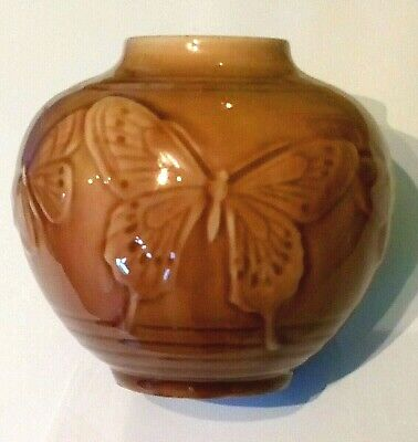 Beautiful Vintage Rookwood Pottery Butterfly Vase   • 59.99£