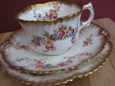 Hammersley Tea Trio Pretty Dresden Spray Pattern C. 1890-1895 RD. No 195702 • 14.70£