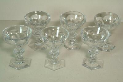 Set Of 6 X Vintage Baccarat Crystal Champagne Saucer Glasses In Harcourt Pattern • 299£
